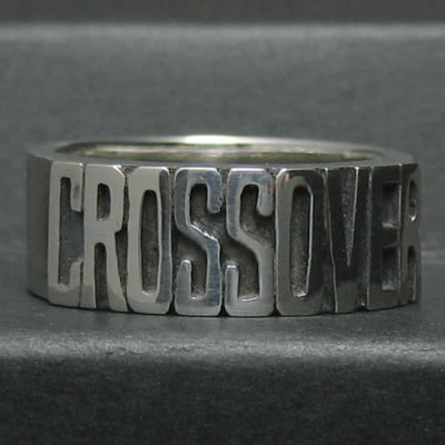 CROSSOVER LOGO RING 5